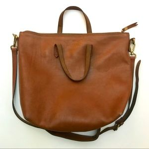 Madewell Zip-Top Large Transport Carryall Tote